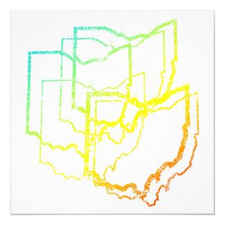 """falta de definición de la frialdad de Ohio Invitación 5.25"""" X 5.25"""""""