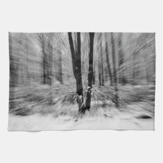Falta de definición de maderas del invierno toalla de mano