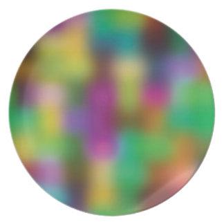 Falta de definición de neón del color plato