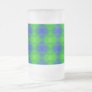 Falta de definición de neón del verde azul del taza de cristal