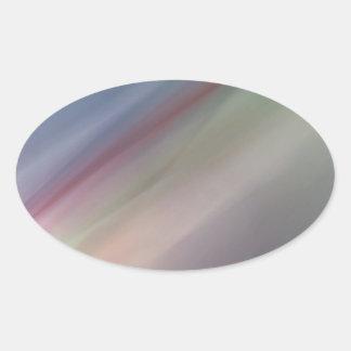 Falta de definición del arco iris pegatina de oval personalizadas