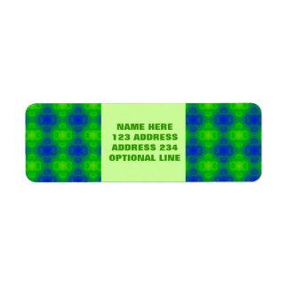 Falta de definición del extracto del verde azul etiqueta de remite