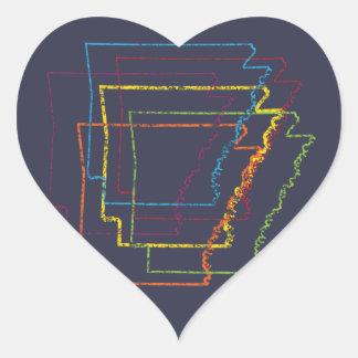 falta de definición del orgullo de Arkansas Pegatina En Forma De Corazón