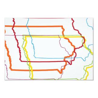 """falta de definición del orgullo de Iowa Invitación 3.5"""" X 5"""""""