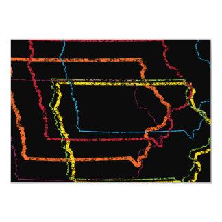 """falta de definición del orgullo de Iowa Invitación 5"""" X 7"""""""
