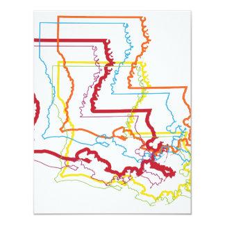 """falta de definición del orgullo de Luisiana Invitación 4.25"""" X 5.5"""""""