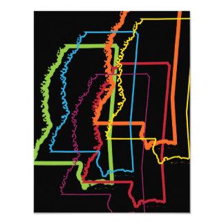 """falta de definición del orgullo de Mississippi Invitación 4.25"""" X 5.5"""""""