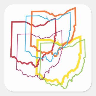 falta de definición del orgullo de Ohio Pegatina Cuadrada