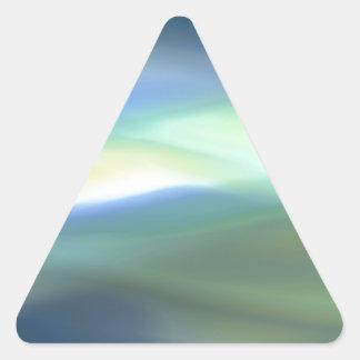 Falta de definición del verde azul calcomanía de triangulo