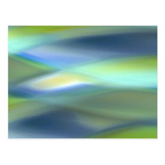 Falta de definición del verde azul tarjetas postales
