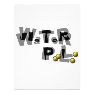 Falta de definición del water polo tarjetas informativas