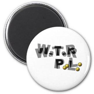 Falta de definición del water polo imán redondo 5 cm