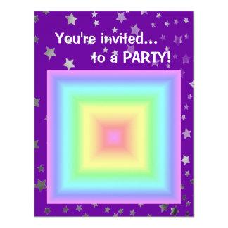 """Falta de definición en colores pastel brillante invitación 4.25"""" x 5.5"""""""