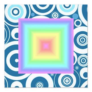 """Falta de definición en colores pastel brillante invitación 5.25"""" x 5.25"""""""