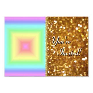 """Falta de definición en colores pastel brillante invitación 5"""" x 7"""""""