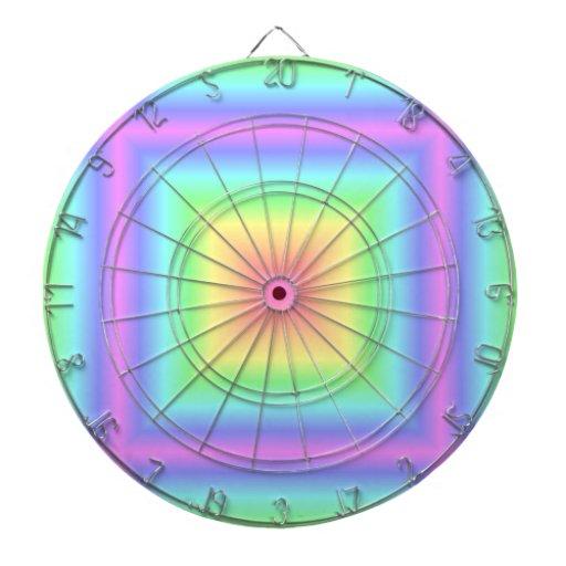 Falta de definición en colores pastel retra del ar tablero dardos