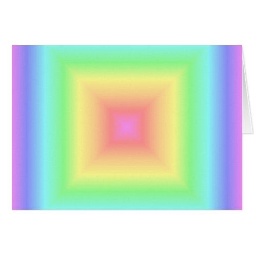 Falta de definición en colores pastel retra del ar tarjeta de felicitación