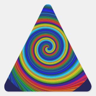 Falta de definición espiral calcomania de triangulo personalizadas