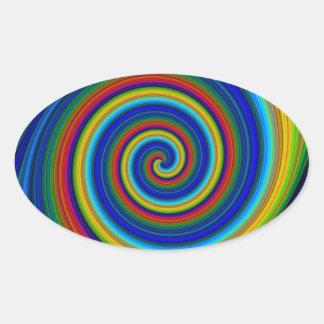 Falta de definición espiral pegatinas óval personalizadas