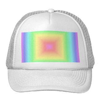 Falta de definición geométrica del arco iris en co gorras de camionero