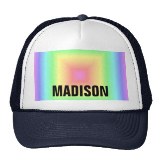 Falta de definición geométrica del arco iris en co gorros