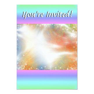 """Falta de definición geométrica del arco iris en invitación 5"""" x 7"""""""