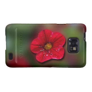 Falta de definición roja de la flor samsung galaxy s2 carcasa