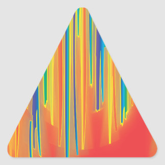 Falta de definición - rojo calcomanías de triangulos