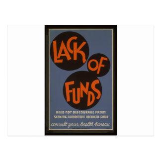 Falta de fondos - 1939 tarjetas postales
