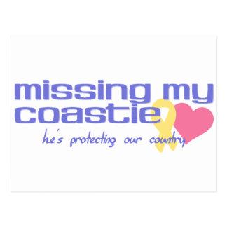 Falta de mi Coastie Tarjetas Postales