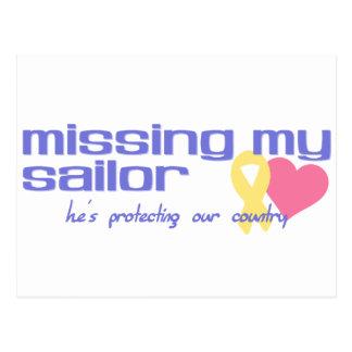 Falta de mi marinero tarjetas postales
