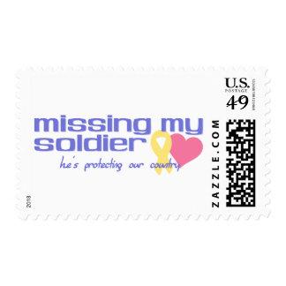 Falta de mi soldado sello postal