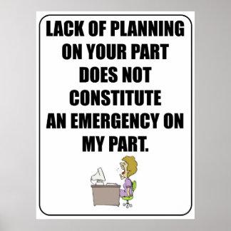 Falta de planeamiento en su poster de la parte