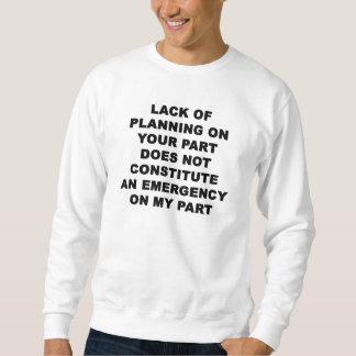 Falta de planeamiento suéter