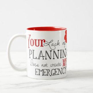 Falta de taza del planeamiento