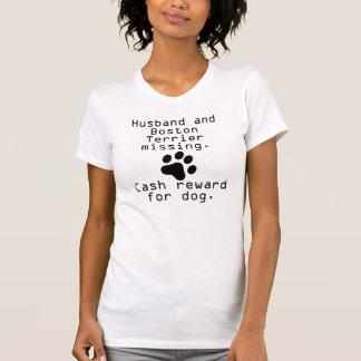 Falta del marido y de Boston Terrier Camiseta