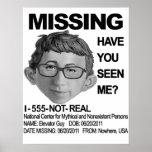 FALTA: Individuo del elevador Posters