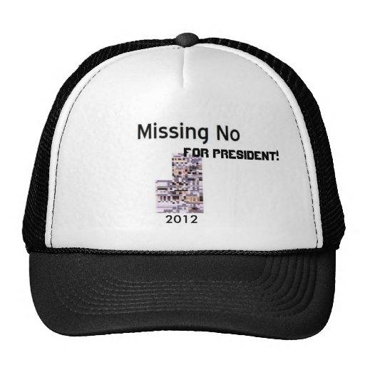 ¡Faltando no para el presidente! Gorros Bordados
