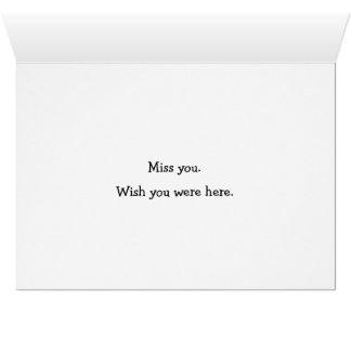 Faltándole ~ 9 tarjeta de felicitación