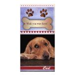 Faltándole plantilla de la foto del perro tarjeta fotografica personalizada