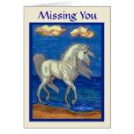 Faltándole tarjeta árabe del caballo de la playa