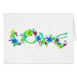 Faltándole tarjeta de felicitación del amor