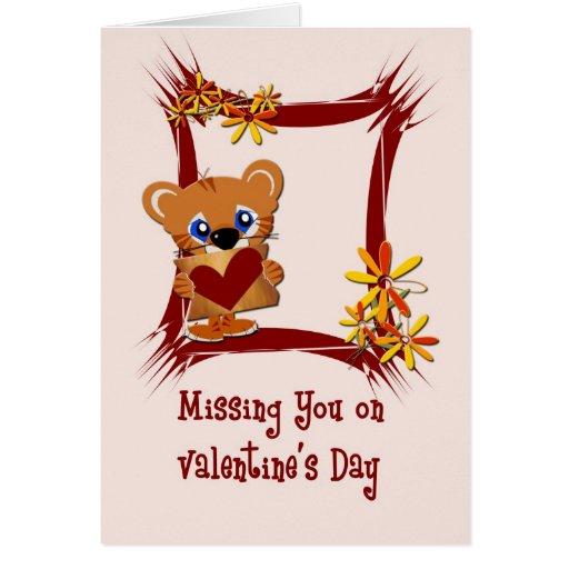 Faltándole tarjeta del día de San Valentín