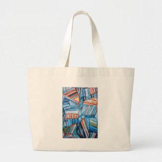 Faltas azules abstractas (modelo natural abstracto bolsa lienzo