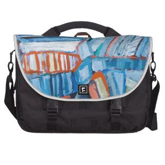 Faltas azules abstractas (modelo natural abstracto bolsas para portatil