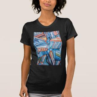 Faltas azules abstractas (modelo natural abstracto camisetas
