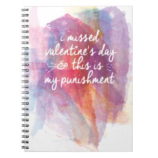 Falté el día de San Valentín y éste es mi castigo Libros De Apuntes