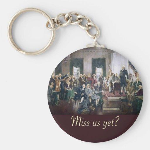 falte nos con todo a los fundadores constitucional llavero redondo tipo pin