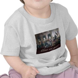 falte nos con todo a los fundadores constitucional camisetas