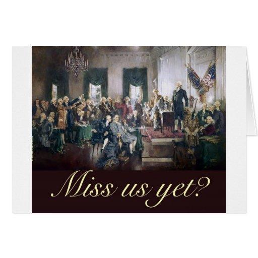 falte nos con todo a los fundadores constitucional felicitaciones